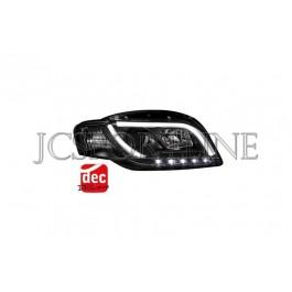 Передние фары Dectane Devil Eyes черные - Audi A4 (B7)