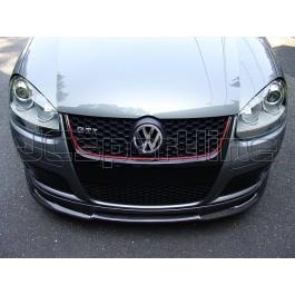 Накладка на передний бампер ABT карбоновая - Golf 5 GTI