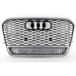 Решетка радиатора RS6 Quattro (Platinum Grey) - Audi A6 / S6 (4G/C7)