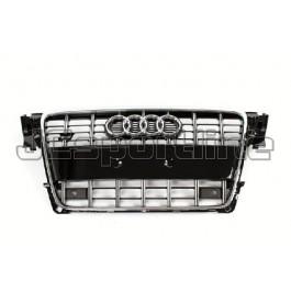 Решетка радиатора S4 (черная с хромом) - Audi A4 (B8)