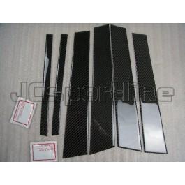 Накладки на дверные стойки карбон - BMW E87