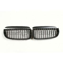 Решетка радиатора (черная матовая) - BMW E90 / E91