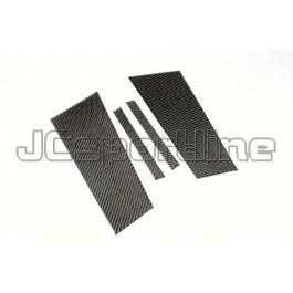 Накладки на дверные стойки карбоновые - Passat CC
