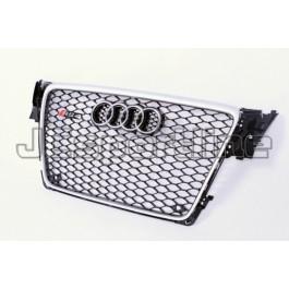Решетка радиатора RS4 алюминий - Audi A4 (B8)
