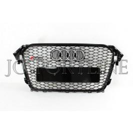 Решетка радиатора RS4 черная - Audi A4 (B8) Facelift