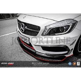 Сплиттер RevoZport RZA-250 карбон - Mercedes Benz A-klasse AMG Package (W176)