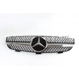 """Решетка радиатора со звездой """"Black"""" - Mercedes Benz CLK (C209 / A209)"""
