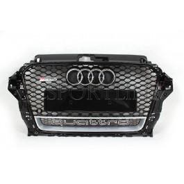 Решетка радиатора RS3 Quattro (Black / Platinum Grey) - Audi A3 (8V)