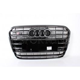 Решетка радиатора S6 черная - Audi A6 (4G/C7)