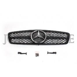 Решетка радиатора MEC Design (Black) - Mercedes-Benz C (W203 / S203)