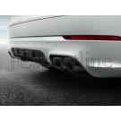Насадки на глушитель GTS (черные) - Porsche Cayenne (9YA/PO536)