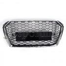 Решетка радиатора RS4 (хром) без эмблемы - Audi A4 / S4 (B9)