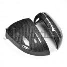 Корпуса боковых зеркал (side assist) карбон - Audi A4 (B9)