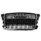 Решетка радиатора Audi S3 (черная с хромом) - Audi A3 / S3 (8P / 8PA)