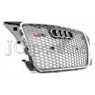 Решетка радиатора RS3 (Platinum Grey) - Audi A3 (8P / 8PA)