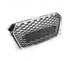 Решетка радиатора RS4 (Platinum Grey) без эмблемы - Audi A4 / S4 (B9)