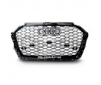 Решетка радиатора RS3 Quattro (Full Black) - Audi A3 (8V) Facelift