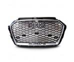Решетка радиатора RS3 Quattro (Platinum Grey) - Audi A3 (8V) Facelift